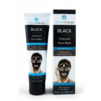 DermaChange Charcoal Peel Off Face Mask - with Vegan & Activated Charcoal - Blackhead Remover & Pore Minimizer - Deep Cleansing Black Mask - Anti Aging & Acne Spot Treatment (3.4 oz)