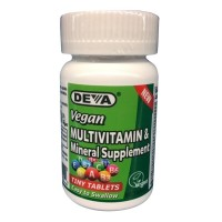 Deva Vegan Multivitamin, Mineral Supplement, Coated Tablets, 90 Count Bottle