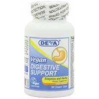 Deva Vegan Vitamins Digestive Support with Enzymes and Herbs, 90-Count