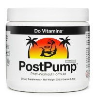 Do Vitamins - PostPump Clean Post Workout Supplement Recovery Powder with Creapure Creatine Monohydrate Carnipure L-Carnitine & Ajipure Branched Chain Amino Acids, Certified Vegan Paleo Non-GMO