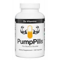 Do Vitamins - PumpPills - Nitric Oxide Booster, Caffeine Free Pre Workout Supplement for Men & Women without Creatine, Pre-Workout w/ L-Citrulline & Beta-Alanine - Vegan, Paleo, Non-GMO - 120 Capsules