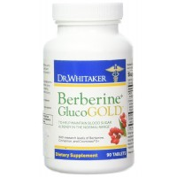 Dr. Whitaker's Berberine GlucoGold Supplement for Blood Sugar Support, 90 Tablets (30-Day Supply)