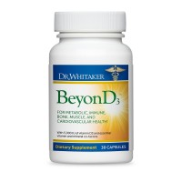 Dr. Whitaker's BeyonD3 - Vitamin D3, Vitamin K2 MK7, Magnesium, Boron, and Zinc – Premium Co-factors for Bone, Muscle, Immune, and Overall Health (30-Day Supply)