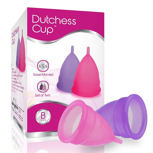 Dutchess Menstrual Cups Set of 2 with Free Bag - No 1 Economical Feminine Alternative Protection for Cloth Sanitary Napkins - The Original Authentic Cups - Small Size