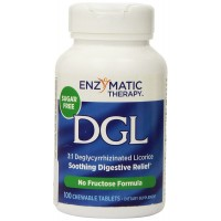 Enzymatic Therapy DGL Deglycyrrhizinated Licorice -- 100 Chewable Tablets