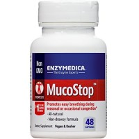 Enzymedica - MucoStop, For Relief of Sinus Congestion and Excess Mucus, 48 Capsules (FFP)