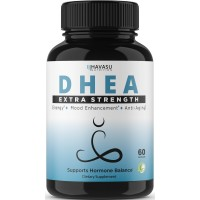 Extra Strength DHEA 50 mg Supplement - Helps Balance Hormone Levels & Boost Youthful Energy Levels for Men & Women, Increase Metabolism, Immunity, & Lean Body Mass, Non-GMO Formula