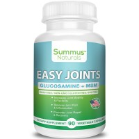 Extra Strength Joint Supplements – Glucosamine Plus MSM - Dairy Free, Gluten Free, Non-GMO, All Natural, Made in USA - Helps with joint pain, mobility, aches, soreness & inflammation