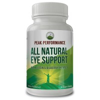 Eye Support Supplement / Vitamins with Carotenoids Lutein and Bilberry Extract by Peak Performance. Great Eye Protection for Computer Users. With Zeaxanthin and Astaxanthin. 30 Vegan Capsules