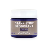 FATCO Stank Stop Natural, No Aluminum Deodorant for Men, 1 Ounce Cypress and Coriander