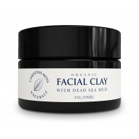 Facial Clay Dead Sea Mud Mask Organic and 100% Natural Face Mask. Original Formula. No Harmful Toxic Chemicals Or Ingredients. Vegan, Cruelty Free. By Christina Moss Naturals (8oz).