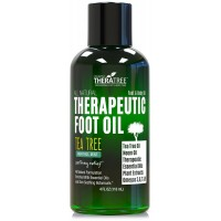 Foot Oil - Soothing Menthol Mint - Tea Tree Oil & Neem - Helps with Antifungal, Athletes Foot, Toe Fungus, Foot Odor - Invigorating Icy Care for Sore, Tired, Achy Feet