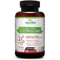 Free-Form L-Citrulline Malate | 750 mg per Capsule | 180 Veggie Capsules | Up to 6-Month Supply | Vegetarian / Vegan | Stabilized Organically | Supports Endurance, Stamina, and Energy