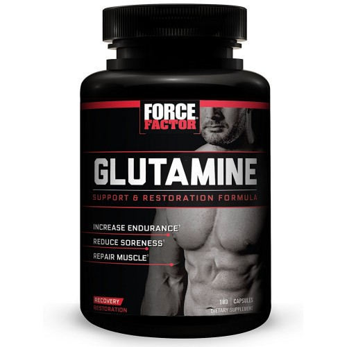 Glutamine by Force Factor, L-Glutamine Post-Workout Supplement to Reduce Soreness, Promote Muscle Repair, and Speed Recovery, Force Factor, 180 Count