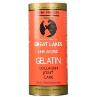 Great Lakes Unflavored Beef Gelatin, Kosher, 16 Ounce Can