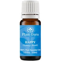Happy Synergy Essential Oil Blend 10 ml. 100% Pure, Undiluted, Therapeutic Grade. (Blend Of: Pink Grapefruit, Lemon, Cassia, Ginger, Peppermint)