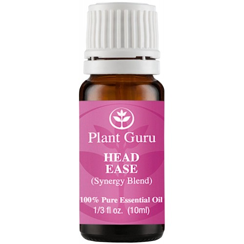 Head Ease Synergy Essential Oil Blend (Headache & Migraine) 10 ml. 100% Pure, Undiluted, Therapeutic Grade. (Blend Of: Lavender Dalmatia, Peppermint, Wintergreen, Frankincense, Marjoram, Rosemary)