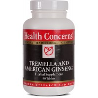 Health Concerns - Tremella & American Ginseng - Herbal Supplement - Supports Immune, Lung and Respiratory Function - 90 Tablets