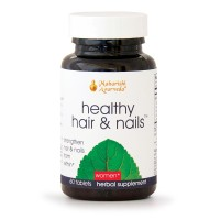 Healthy Hair & Nails | 60 Herbal Tablets | Natural Herbal Supplement for Split Ends, Brittle Hair & Flaky Scalp | Nutritional Support for Nails | Supports Growth of Hair & Nails