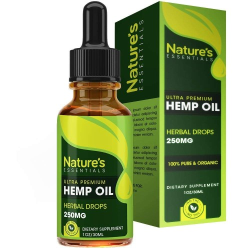 Hemp Oil Drops - 100% Hemp Seed Extract All Natural Dietary Supplement, Rich in Omega 3 & 6 Fatty Acids for Skin & Heart Health :: 1 Fl. Oz. by Nature's Essentials