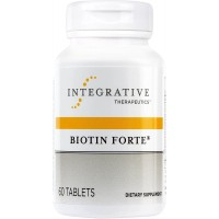 Integrative Therapeutics - Biotin Forté - Water-Soluble B Vitamin - Nervous System and Circulatory System Support - 60 Tablets