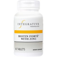 Integrative Therapeutics - Biotin Forte with Zinc - Complete B Vitamin Complex with 3 mg of Biotin - 60 Tablets