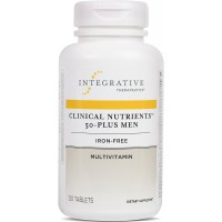 Integrative Therapeutics - Clinical Nutrients 50-Plus Men - Iron-Free Multivitamin with Vitamins, Minerals, and Herbs - 120 Tablets