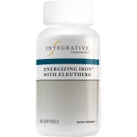 Integrative Therapeutics - Energizing Iron with Eleuthero - Maximum Absorption Iron with Vitamin B12 and Eleuthero - 90 Softgels