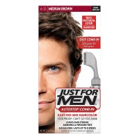 Just For Men AutoStop Men's Hair Color, Medium Brown (Pack of 3)