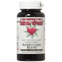 Kroeger Herb Kidney Care Blend Vegetarian Capsules, 100 Count