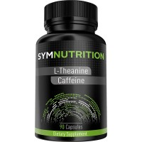 L-Theanine 200mg, Caffeine 100mg - 90 Count | Looking to Improve Your Energy & Focus? Look No Further! | #1 Rated Nootropic Stack for Improving Focus, Energy, Mood and Wakefulness - V-Capsules