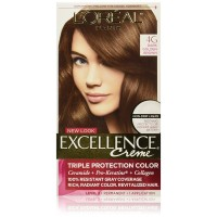L'Oréal Paris Excellence Créme Permanent Hair Color, 4G Dark Golden Brown