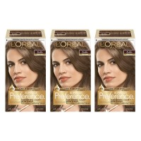 L'Oréal Paris Superior Preference Permanent Hair Color, 6 Light Brown, 3 Count