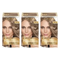 L'Oréal Paris Superior Preference Permanent Hair Color, 7.5A Medium Ash Blonde, 3 Count