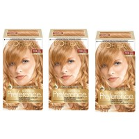 L'Oréal Paris Superior Preference Permanent Hair Color, 9GR Light Golden Red, 3 Count