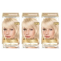 L'Oréal Paris Superior Preference Permanent Hair Color, LB01 Extra Light Ash Blonde, 3 Count