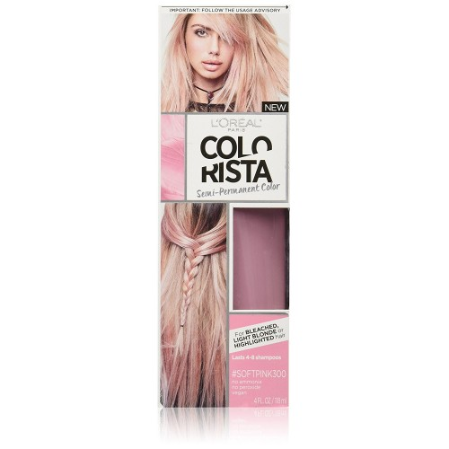 L'Oreal Paris Colorista Semi-Permanent for Light Blonde or Bleached Hair, SoftPink