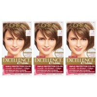 L'Oreal Paris Excellence Creme, 6 Light Brown, 3 Count, (Packaging May Vary)