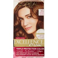 L'Oreal Paris Excellence Creme Hair Color, Medium Golden Brown (Pack of 12)