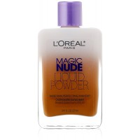 L'Oreal Paris Magic Nude Liquid Powder Bare Skin Perfecting Makeup SPF 18, Soft Sable, 0.91 Ounces