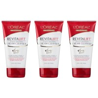 L'Oreal Paris Skin Care Revitalift Radiant Smoothing Cream Cleanser, 5.0 Ounce, 3 Count
