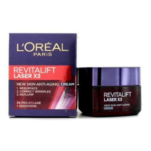 L'Oreal Revitalift Laser X3 Anti Aging Cream 50Ml, 1.7 Ounce