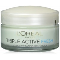 L'Oreal Triple Active Fresh Ultra-hydrating Gel-cream for Normal and Combination Skin, 1.7 Ounce