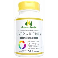 Liver & Kidney Cleanse, Rehmannia Formulation, Promotes Healthy Liver Detoxification and Kidney Purification, Supports Weight Control, 540 Mg, 90 Capsules, Nature's Health