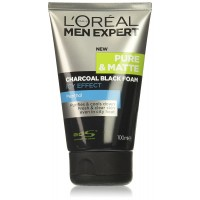 L'oreal Men Expert Pure and Matte Icy Effect Charcoal Black Foam, 3.4 Ounce