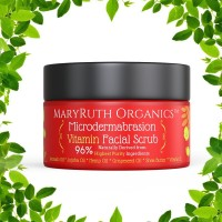 MICRODERMABRASION VITAMIN FACIAL SCRUB by MARYRUTH ORGANICS - Unscented Highest Purity Natural Exfoliator - Great For Wrinkles, Fine Lines & Mild Acne - Avocado Oil, Jojoba Oil, Hemp Oil, Shea Butter - No Sugars 4oz