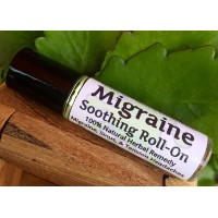 MIGRAINE Soothing Roll-On ! 100% Natural Herbal Remedy for Migraines, Sinus & Tension Headaches. Metal Roller Ball/Handy Pocket Stick. Made in USA! It Works Fast! Take The Edge Off Pain.