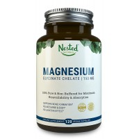 Magnesium Glycinate Chelate 150mg in Vegan Capsules, Better Absorbing than Tablets | 100% Pure & Non-Buffered for Maximum Bioavailability & Absorption with NO Laxative Effect - Non-GMO