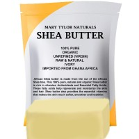 Mary Tylor Naturals Shea Butter 1 lb, Premium Grade Raw Shea Butter, Unrefined, Ivory From Ghana Africa, Amazing Skin Nourishment, Great for Eczema, Stretch Marks and Body Butters