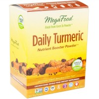 MegaFood - Daily Turmeric Booster Powder, Promotes Healthy Aging & Well-Being, 30 Singles (FFP)